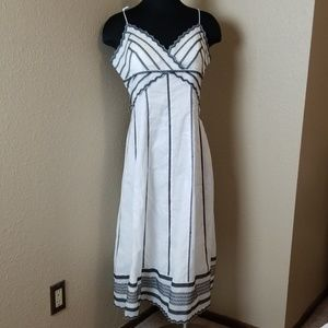 Eliza J New York White Black Summer Dress